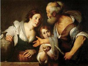 Elijah asks the widow for bread