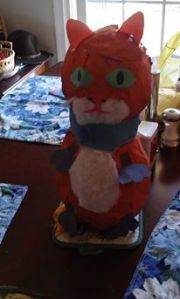 Cat piñata for our grandson's birthday